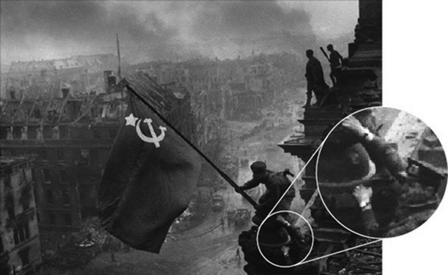 Фотография знамя победы автор