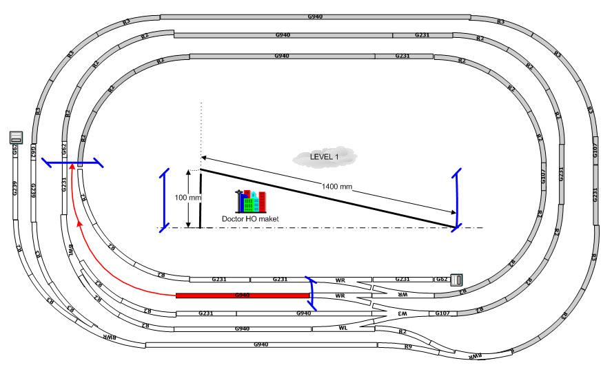 Схема горной железной дороги