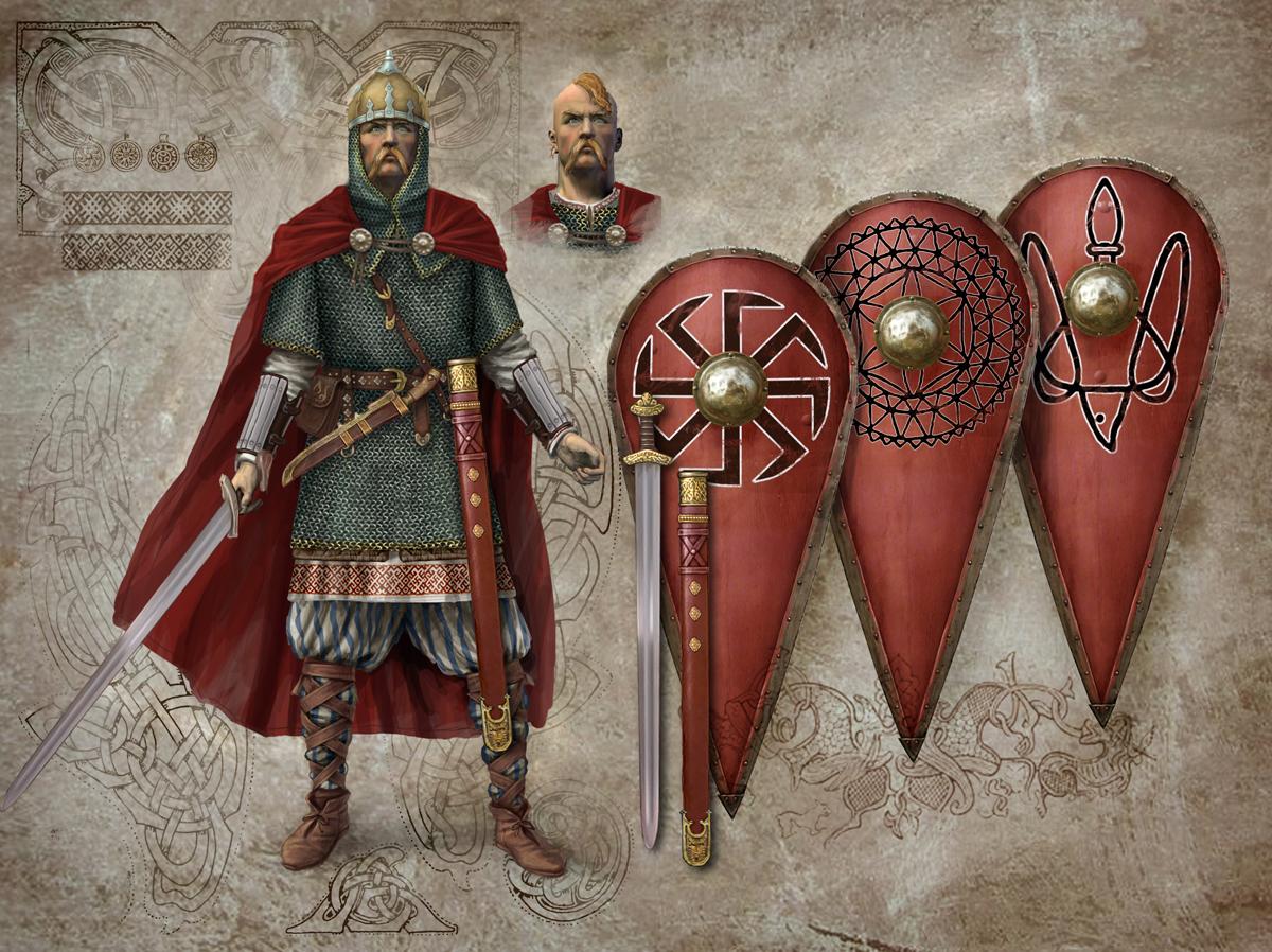 Картинки по запросу красные щиты русских воинов