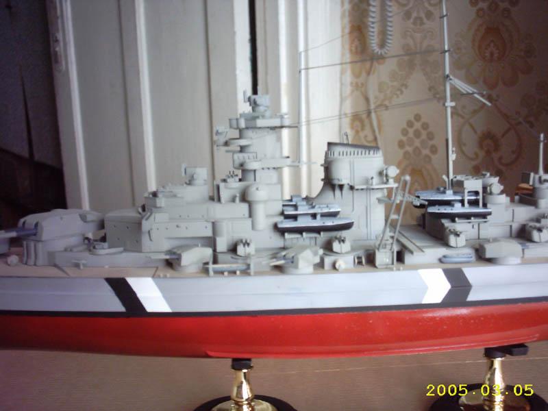 бисмарк, подробная схема сборки бисмарка.  Оригинал картинки находится здесь.