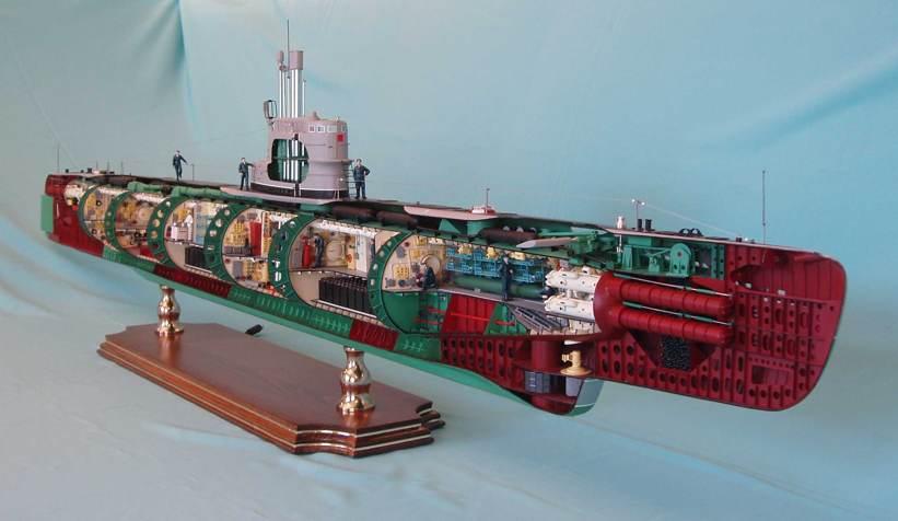 большие модели подводных лодок купить