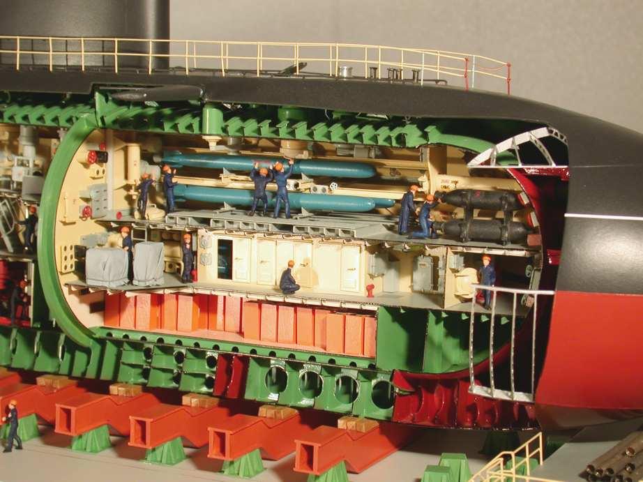рубка подводной лодки заполняется водой