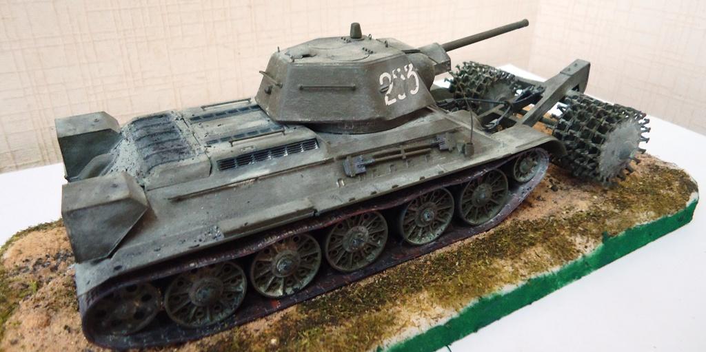 Т 34 с минным тралом — Каропка.ру — стендовые модели, военная ...