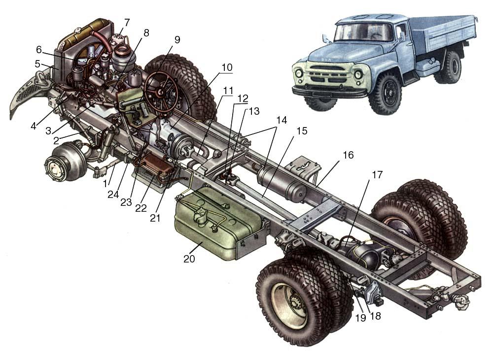 ЗиЛ-130 с кабиной УАМЗа