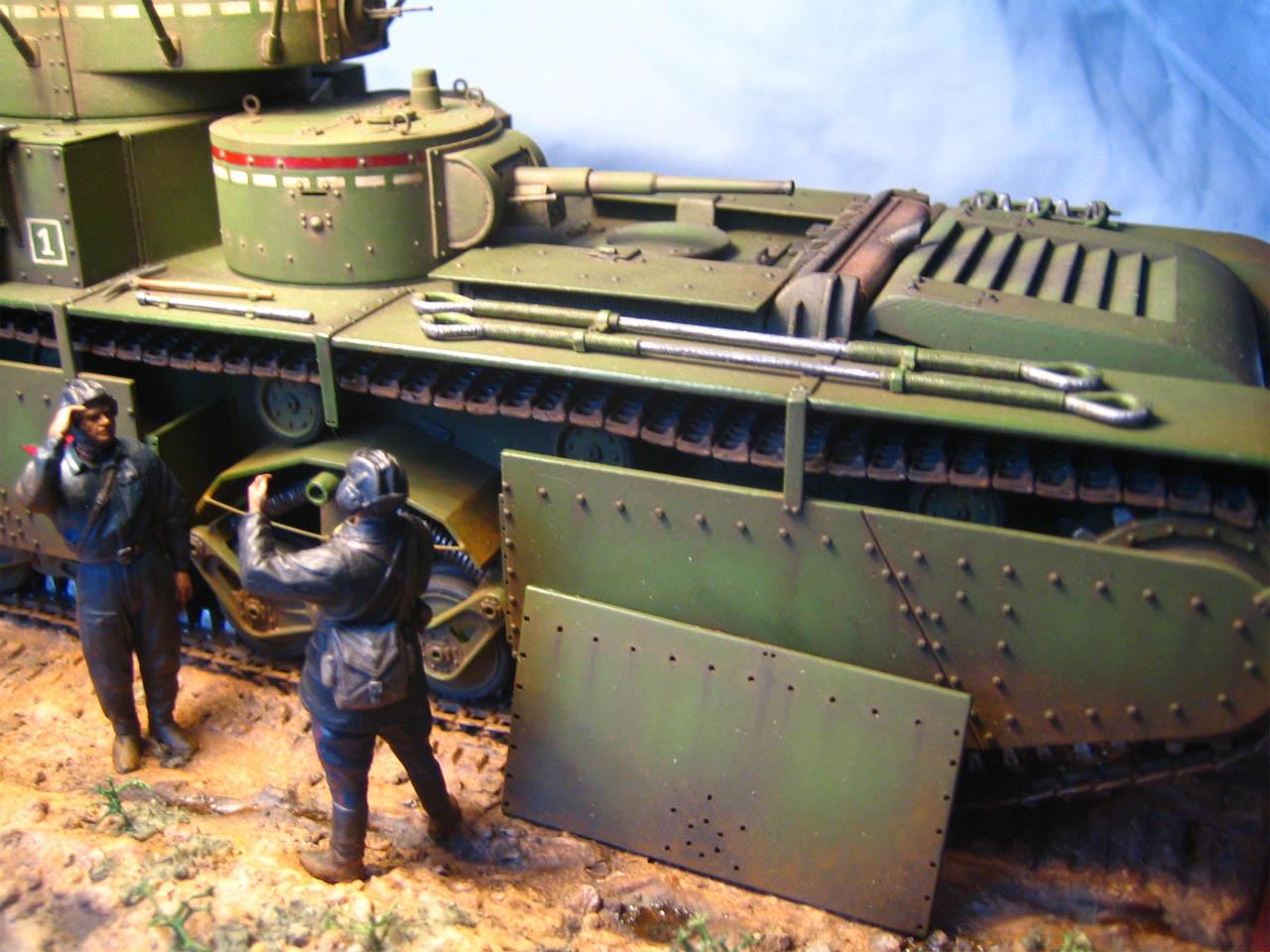 Тяжелый танк Т-35 — Каропка.ру — стендовые модели, военная миниатюра