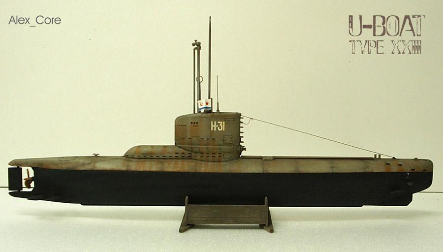 сборка немецкой лодки