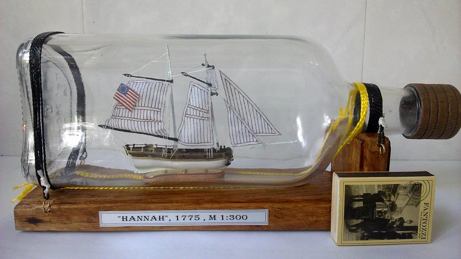 Корабль в бутылке в своими руками 9