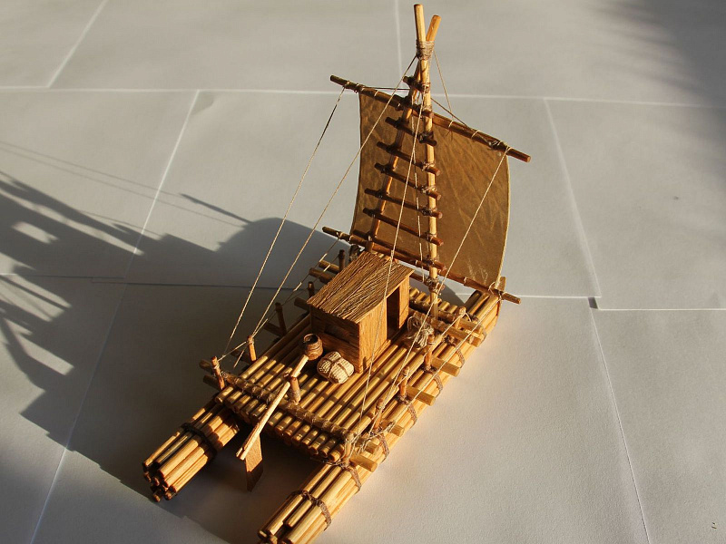 этой фото инструкция создания из спичек корабля счастью