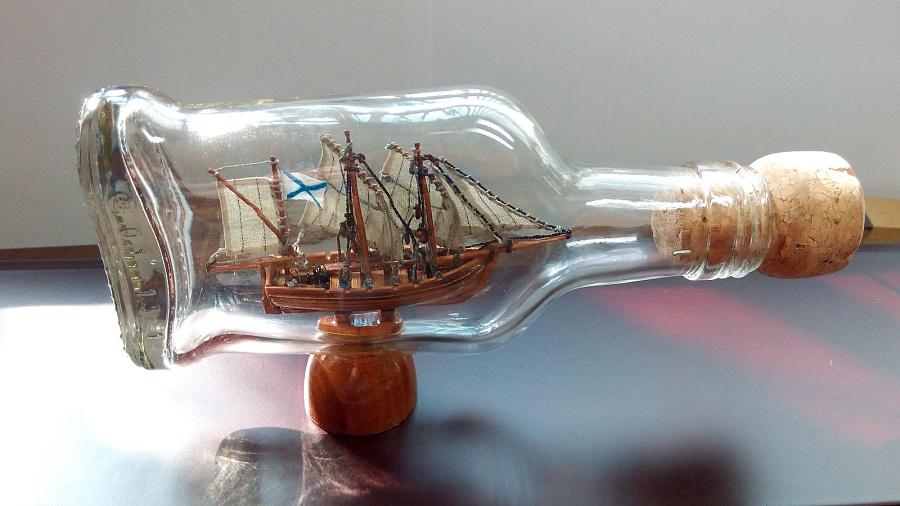 Корабль в бутылке в своими руками 908