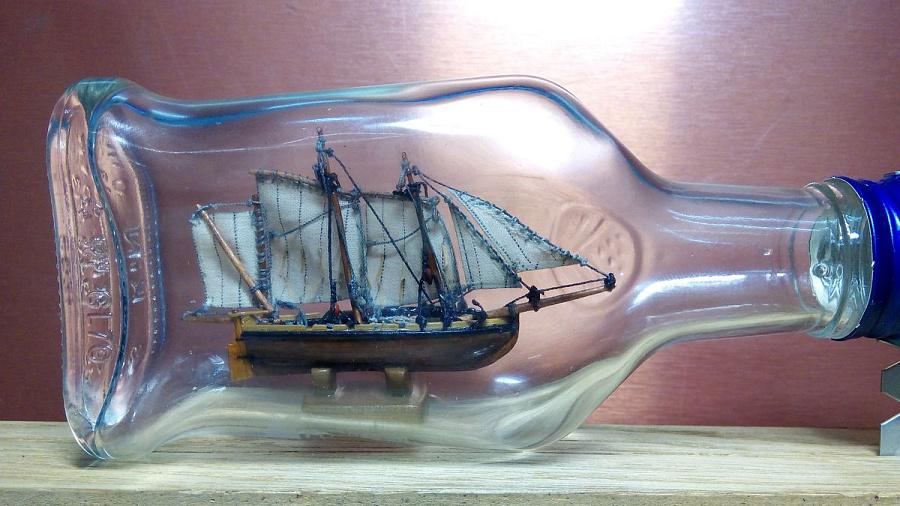 Корабль в бутылке в своими руками 643